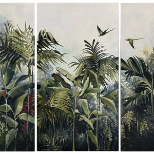 Composition with pomegranates, 2020, oil on paper, 117x167 cm