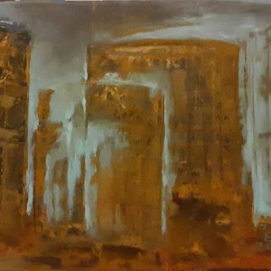 ALMOST PARALLEL VISION CM 170X83 ACRYLIC ON CANVAS