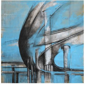 THE BRIDGE CM 50X25 ACRYLIC ON ETCHED IRON PLATE