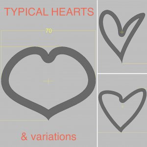 TYPICAL HEARTS & variations