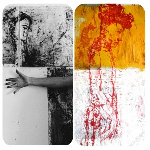 photo collage of two monotypes
