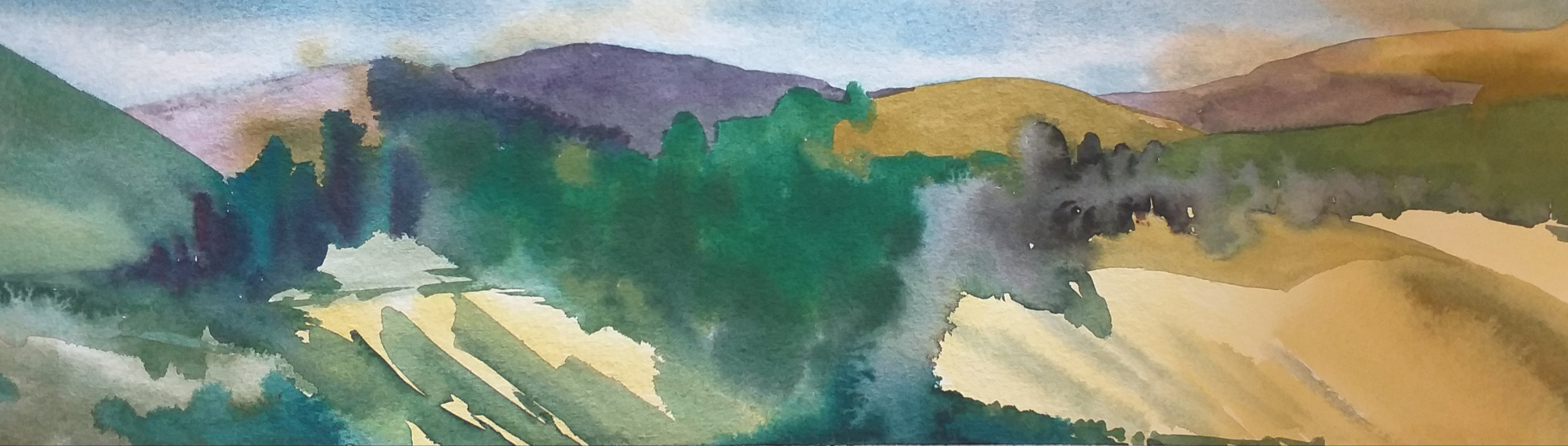 Watercolour painted plein air in Tuscany