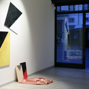 Mucciaccia Contemporary, installation view, Daniel Jouseff, Flags