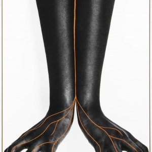 Anita Guerra, Cuando Salimos de Cuba, Hand-painted and collaged monoprint on