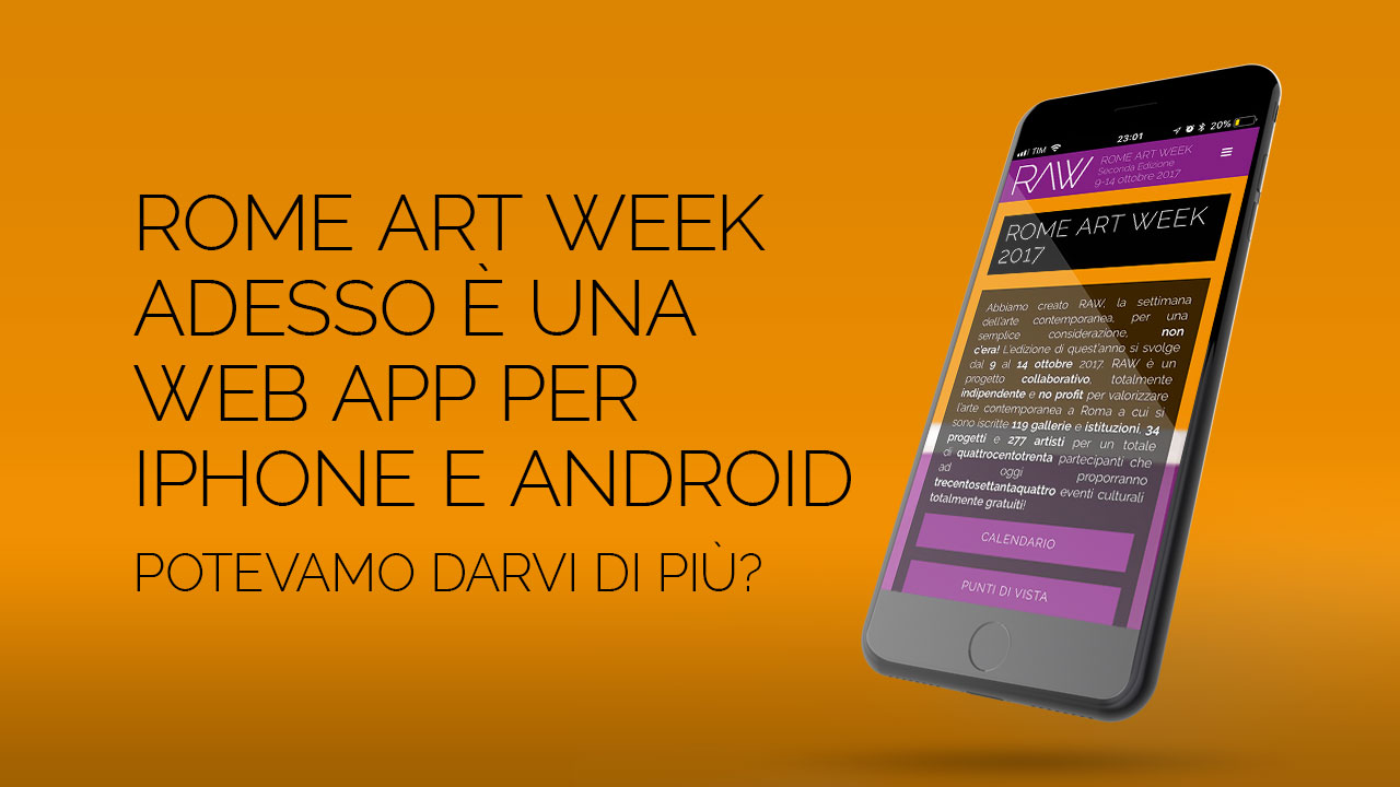 Rome Art Week come app sul tuo cellulare!